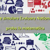 subiecte simulare evaluare nationala 2018 matematica